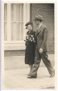 Miep and Jan Gies at their wedding-day, July 16, 1941.