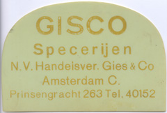 Schabmesser der NV Handelsvereeniging Gies & Co.