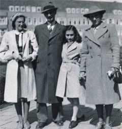 The Frank family in 1941, photographed at Merwedeplein in Amsterdam.