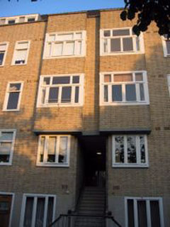 The apartment building at Amsterdam's Merwedeplein where the Frank family lived from 1933 to 1942.