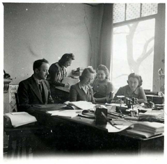 At the office, 1941.