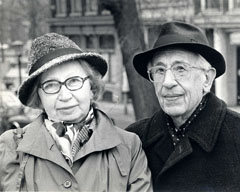 Miep and Jan Gies, fall of 1985, in Amsterdam