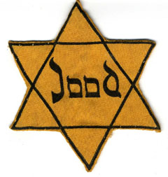 The Star of David that all Jews had to wear. This one belonged to either Margot Frank or Mrs. Stoppelman, the former landlady of Miep Gies.
