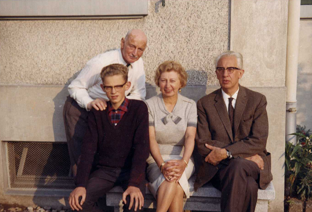 The Gies family visiting Otto Frank in Basel (Switzerland), summer of 1964