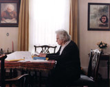 Miep Gies reading the incoming letters, June 2001. Photo: Bettina Flitner.