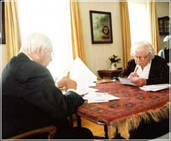 Miep Gies and Cor Suijk answering letters